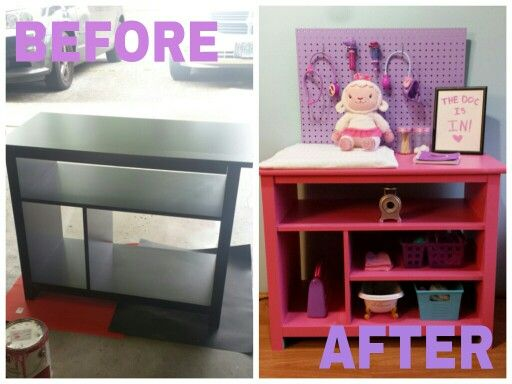 Bella C Parties: Turn An Old Cabinet Into Doc McStuffinu0027s Cuddle Clinic!
