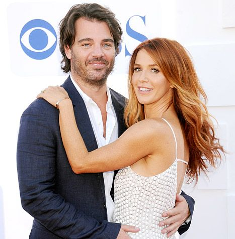 Shawn Sanford and Poppy Montgomery attend an event on July 29, 2012