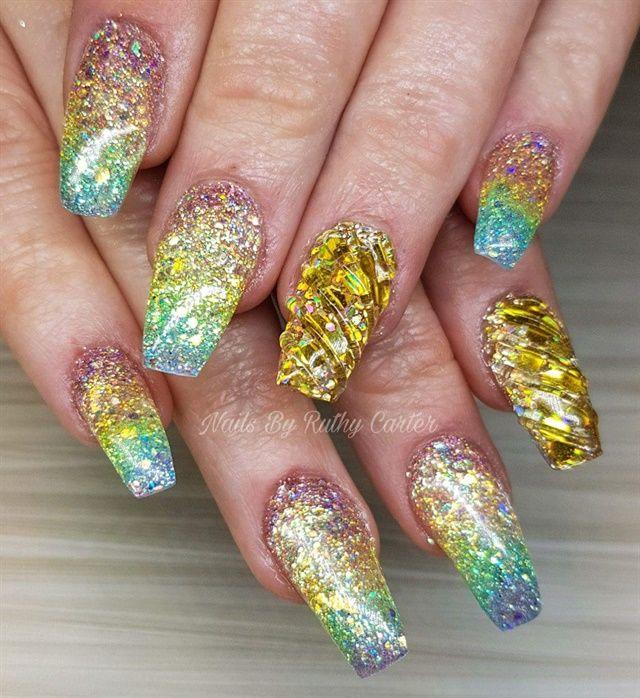 Day 64 Rainbow Bright Nail Art Bright Nails Bright Nail Art Nail Art