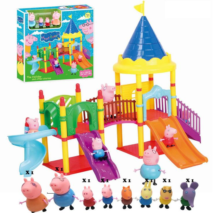 Peppa Pig Family  Amusement park Toys TV Action Figures Peppa Family And Friends #Unbranded