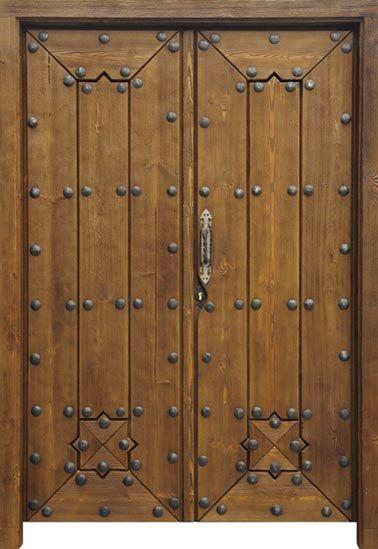 Portón rústico PO013 solapada - Puertas Rusticas Artepuerta
