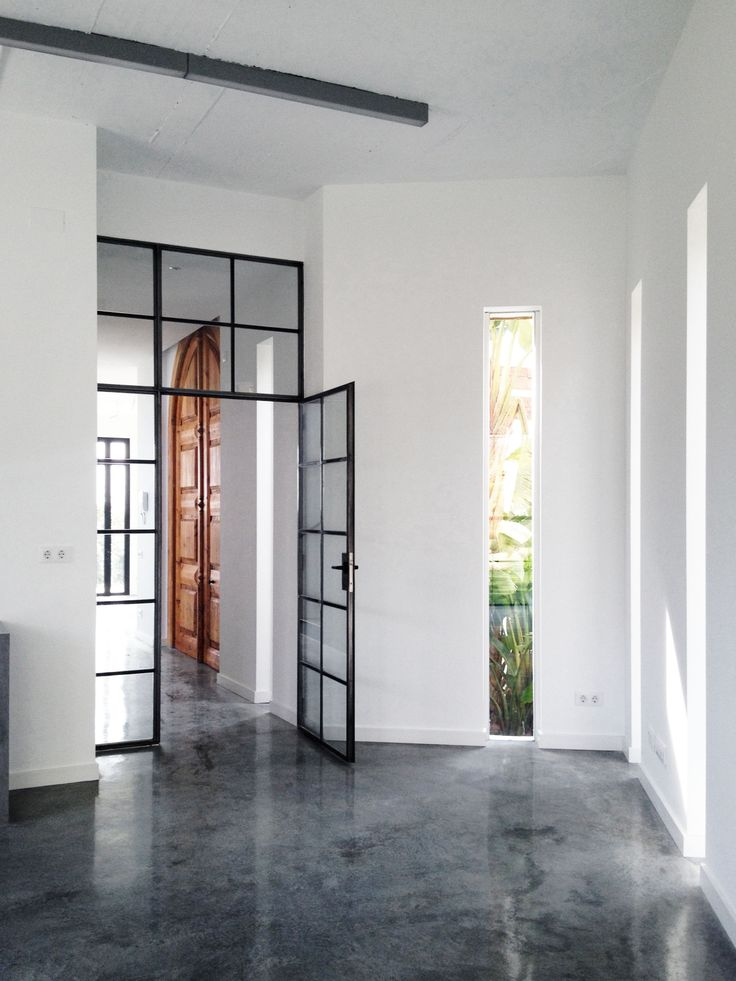 Painting studio glass and steel door | A House by 08023 Architects in Barcelona | #Houses #Glass #Steel #Doors