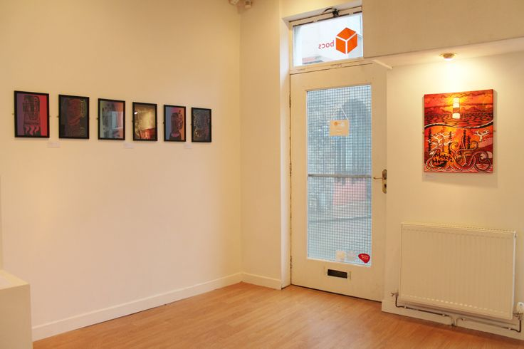 Works of Lisa Jones and Mererid Haf for Happy Medium exhibition at Bocs.