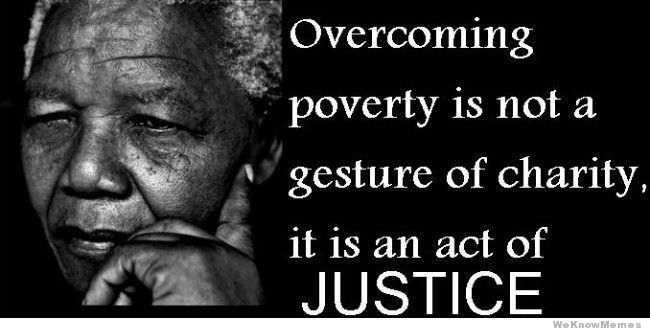 People should find a solution to poverty because it is everyone's right to live happily and no one deserves to live in horrific conditions.