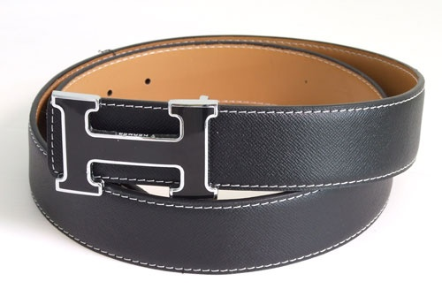 Hermes Belt - Black Enamel Buckle