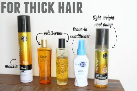 best hair products for thick hair