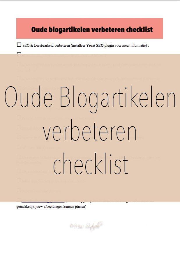 Dagelijks ben ik bezig met het onderhouden van mijn blog. Oude blogartikelen verbeteren en onderhouden is daar ook een onderdeel van. Vandaag laat ik jullie zien hoe ik oude blogartikelen verbeter en heb ik een gratis checklist voor jullie. SEO … Lees verder →