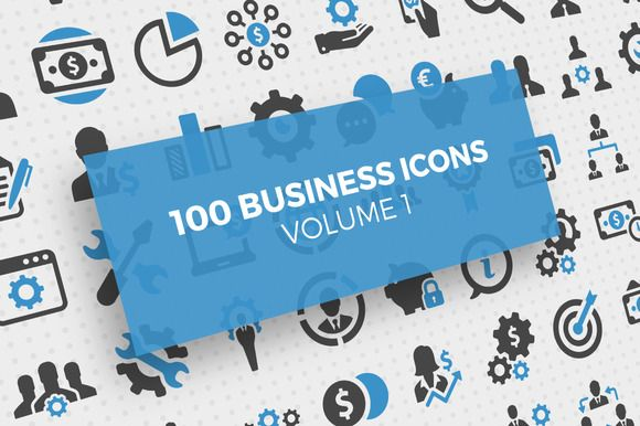 100 Business Icons Vol. 1 by Iconix on @creativemarket