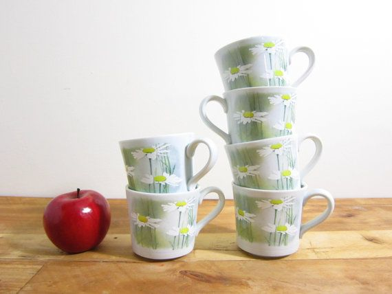 Vintage Royal Doulton Daisyfield Cups by FoxLaneVintage on Etsy, $32.00
