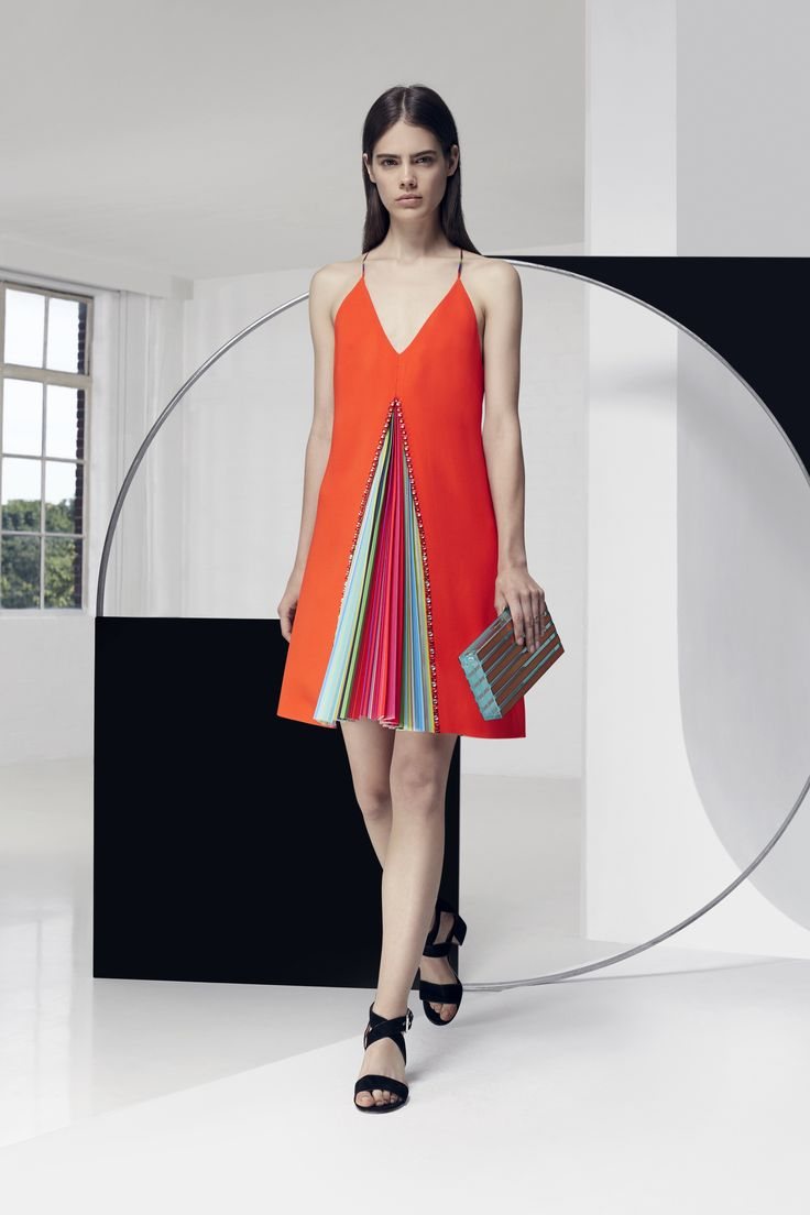 Look 7. Acer Dress & Large Box Clutch