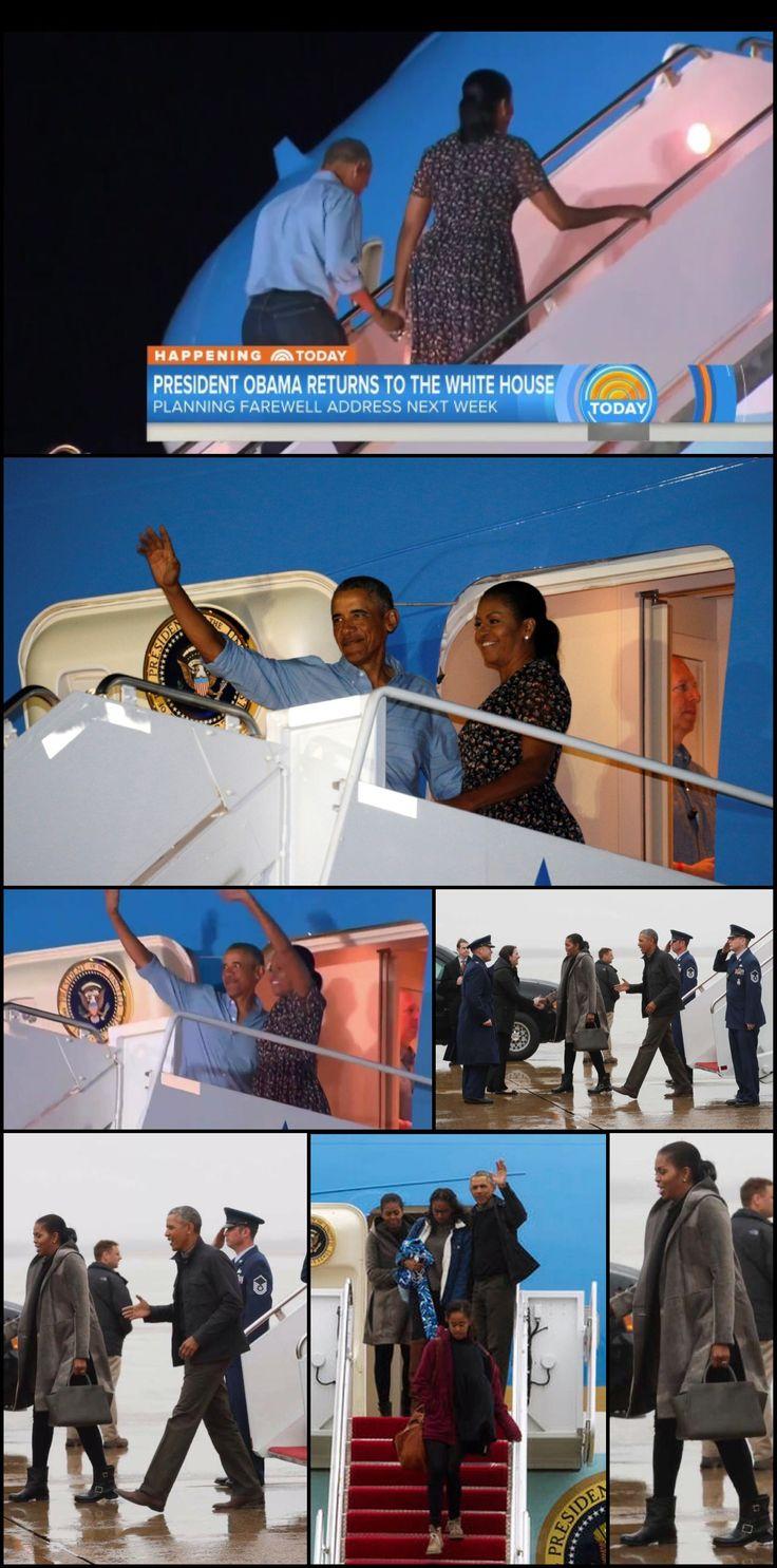 Obamas return from Hawaii Monday January 2, 2017