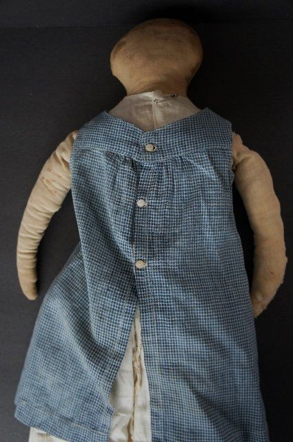 Big bold beautiful so simple antique rag doll pencil face (item #1281354, detailed views)
