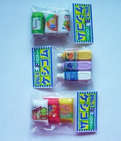3 packs iwako japanese snacks chips juice bottles cans food erasers by iwako 7 48
