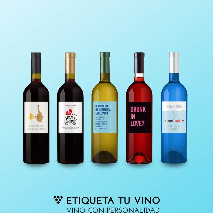 Los mejores VINOS PERSONALIZADOS para un gran fin de semana! etiquetatuvino.com #vinoconpersonalidad
