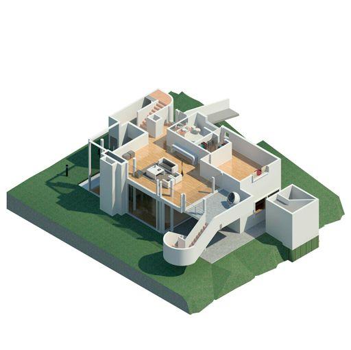 Reproducción Infográfica.Smith House. Darien. Connecticut. EEUUArchitect: Richard Meier