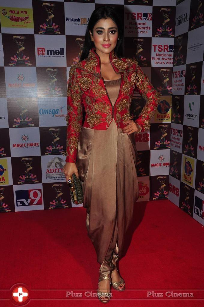 Shriya Saran Hot at TSR TV9 National Film Awards Photos