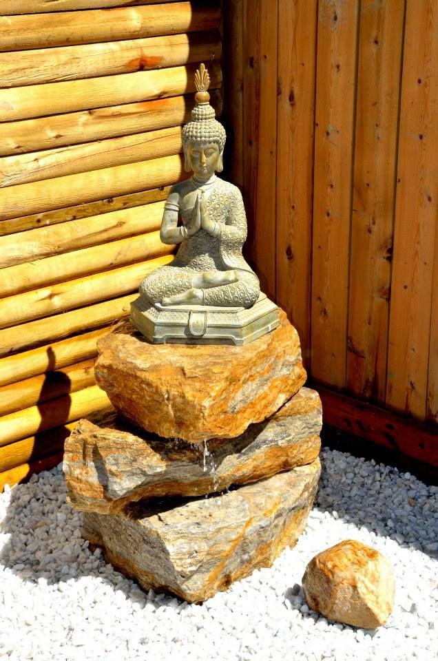 BUDDA ON THE ROCKS Zen Garden