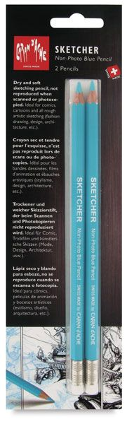 Just bought a pack of these today. They are so awesome!!- Sketcher Non-Photo Blue Pencil, Set of 2