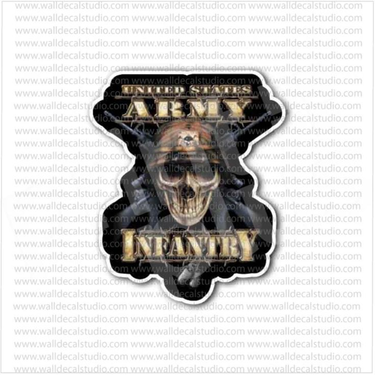 US Army Infantry Skull Military Sticker