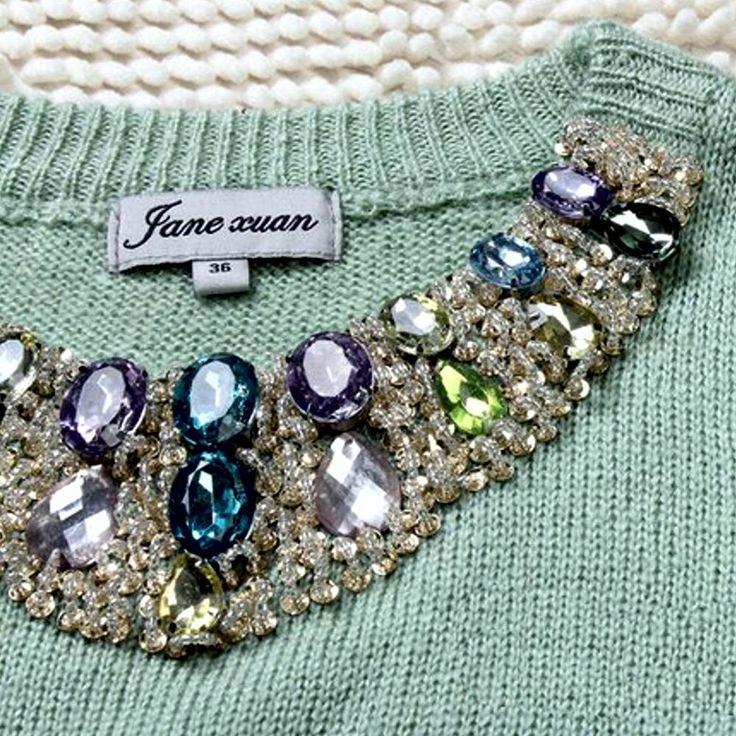 Estilo: Moda Tipo: Pullovers Tipo de Tecido: Tricotado Material: Poliéster Comprimento da manga:Comprida Tamanho M
