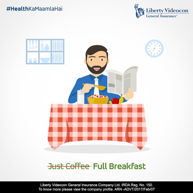 The first step for a healthy day is to have a healthy breakfast. Isliye, be responsible kyunki #HealthKaMaamlaHai