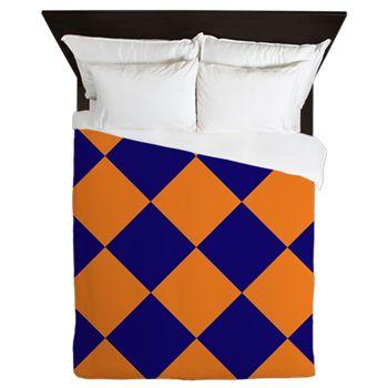 Denver Broncos Super Bowl Champs 2016 fan gear team colors navy blue orange duvet bedsheets