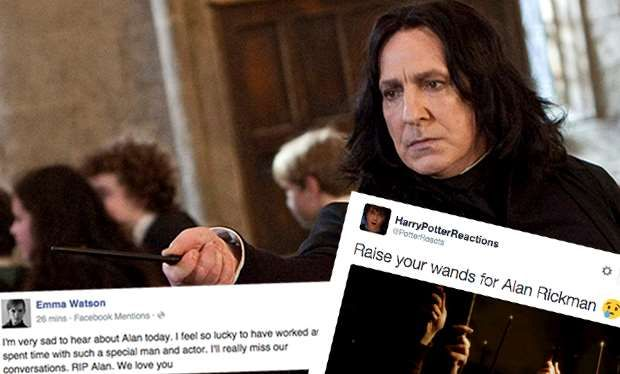 Alan Rickman dies: Harry Potter stars and fans pay tribute to the Severus Snape actor