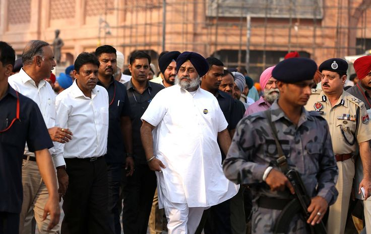 2 more days to go and Heritage Walk will be opened for public. Dy CM Sukhbir Singh Badal enthusiastically took a review of the work in final stages. #progressivepunjab #akalidal