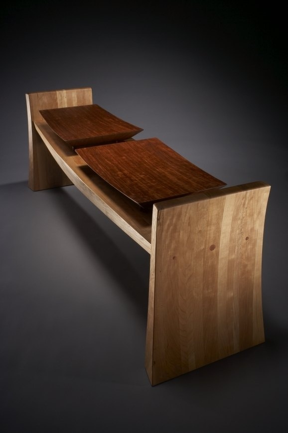 """Floating Seat Bench """"Flare"""" by Hubel Handcrafted"""