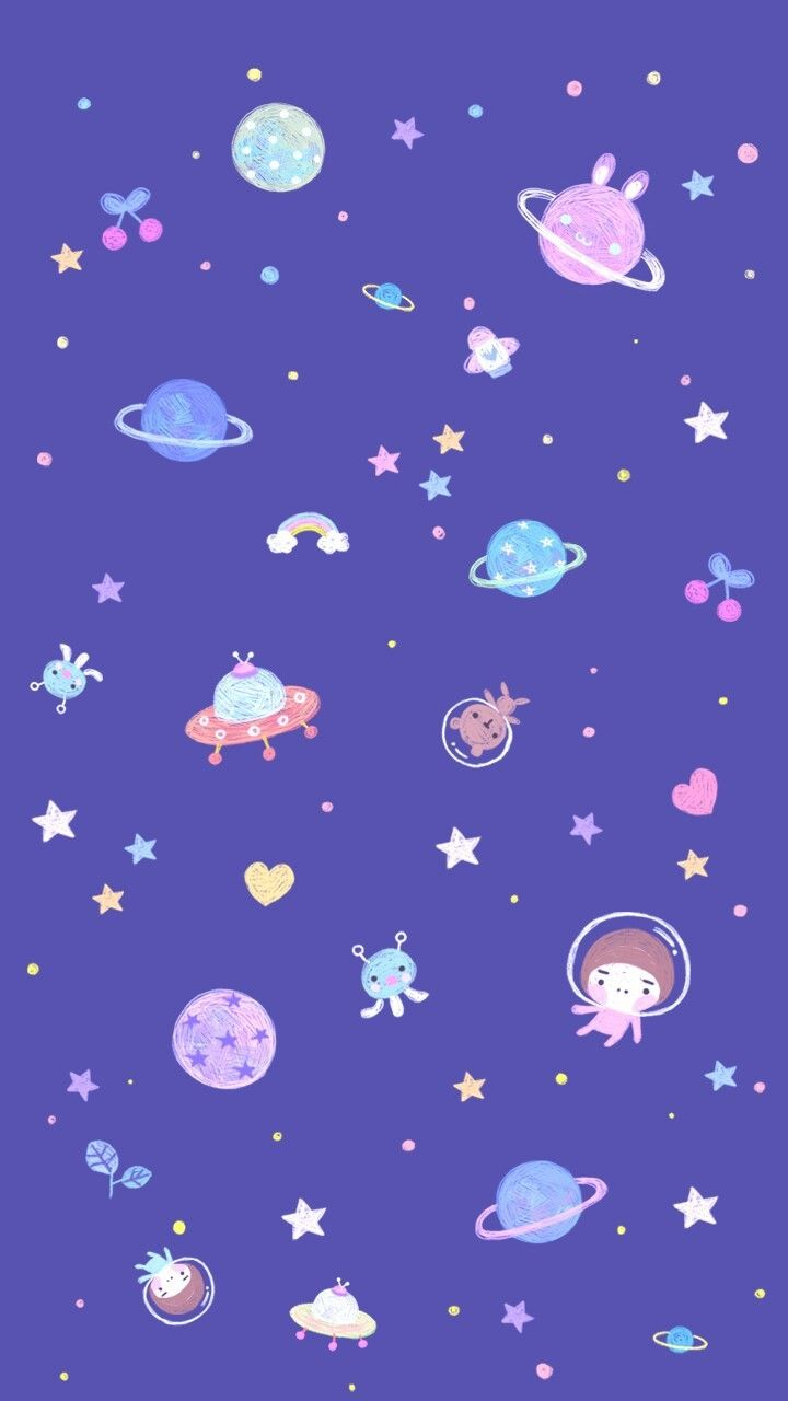 Pattern Animals Art Background Bear Beautiful Beauty With Cartoon Space Wallpapers In 2020 Wallpaper Space Cartoon Wallpaper Galaxy Wallpaper