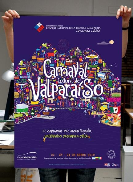 Carnaval Cultural de Valparaíso 2010 by Miguel Ibaceta, via Behance