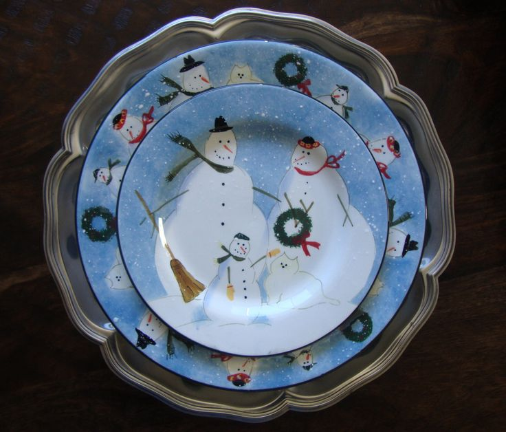 Christmas Plate Set Kitchen