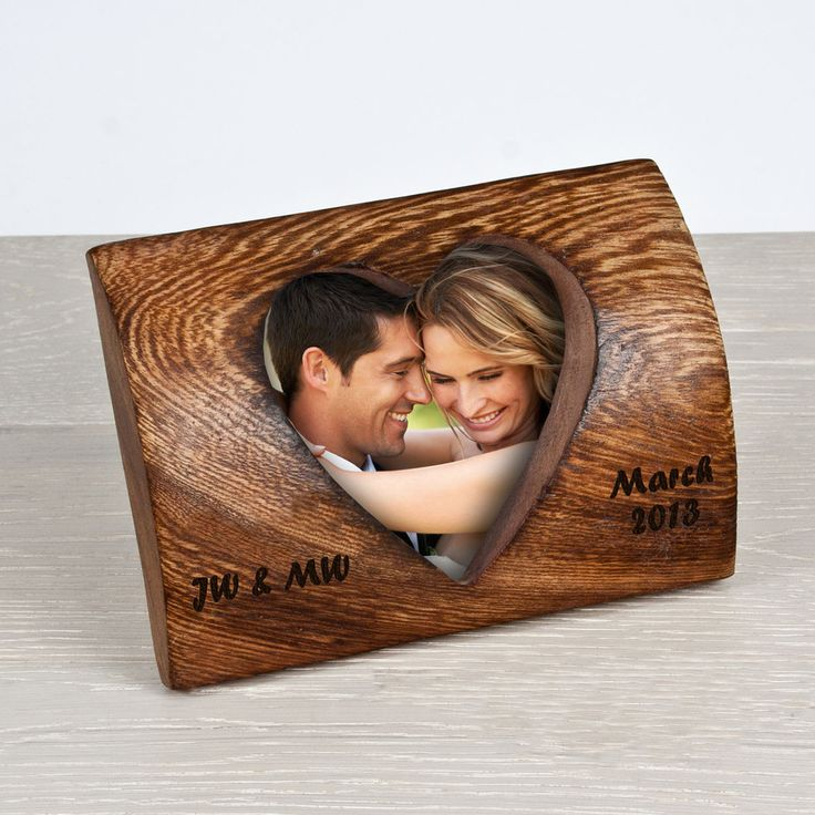Wooden love heart frame