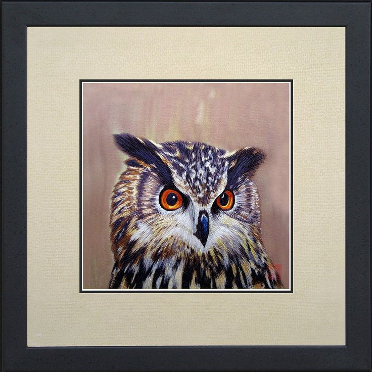 King Silk Art 100% Handmade Embroidery Framed Long-Eared Brown Owl Oriental Wall Hanging Art Asian Decoration Tapestry Artwork Picture Gifts 31084WFB1 > You can find more details here : Christmas decor