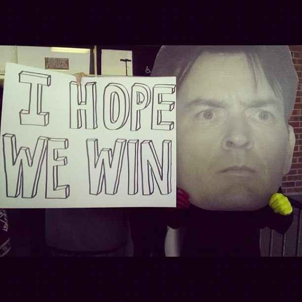 Cautiously optimistic. | The 14 Funniest Signs From College GameDay