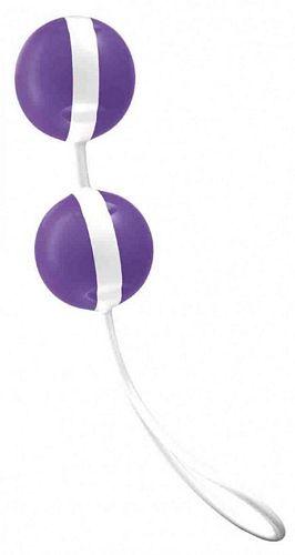 Erotisk legetøj - Køb Joyballs - lilla-hvid - kærlighedskugler fra Joydivision nu i 4ushop.dk - Fragt kun 29 kr.