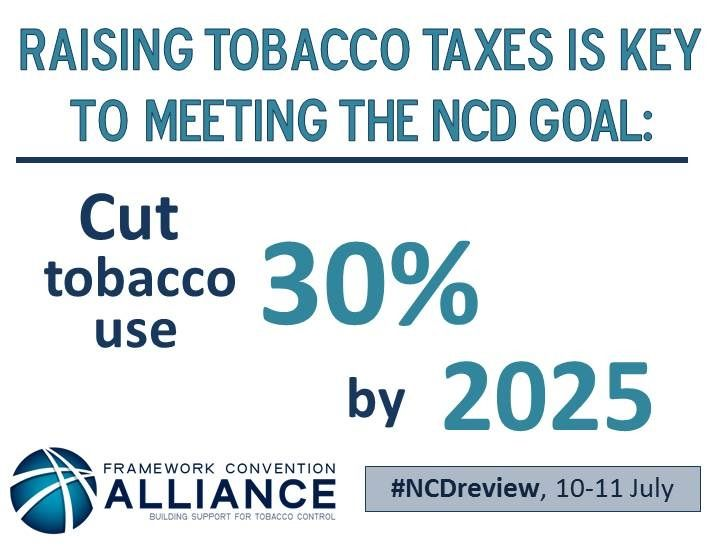 The UN reviewed global progress on tackling non-communicable diseases (NCDs) on 11 July 2014. FCA argued that accelerating global tobacco control is key to winning the fight against the killer diseases.