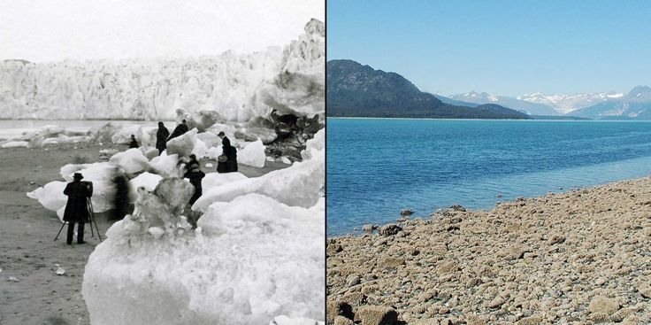 Man-made climate change is ruining the planet, and here are the before and after pictures that prove it.