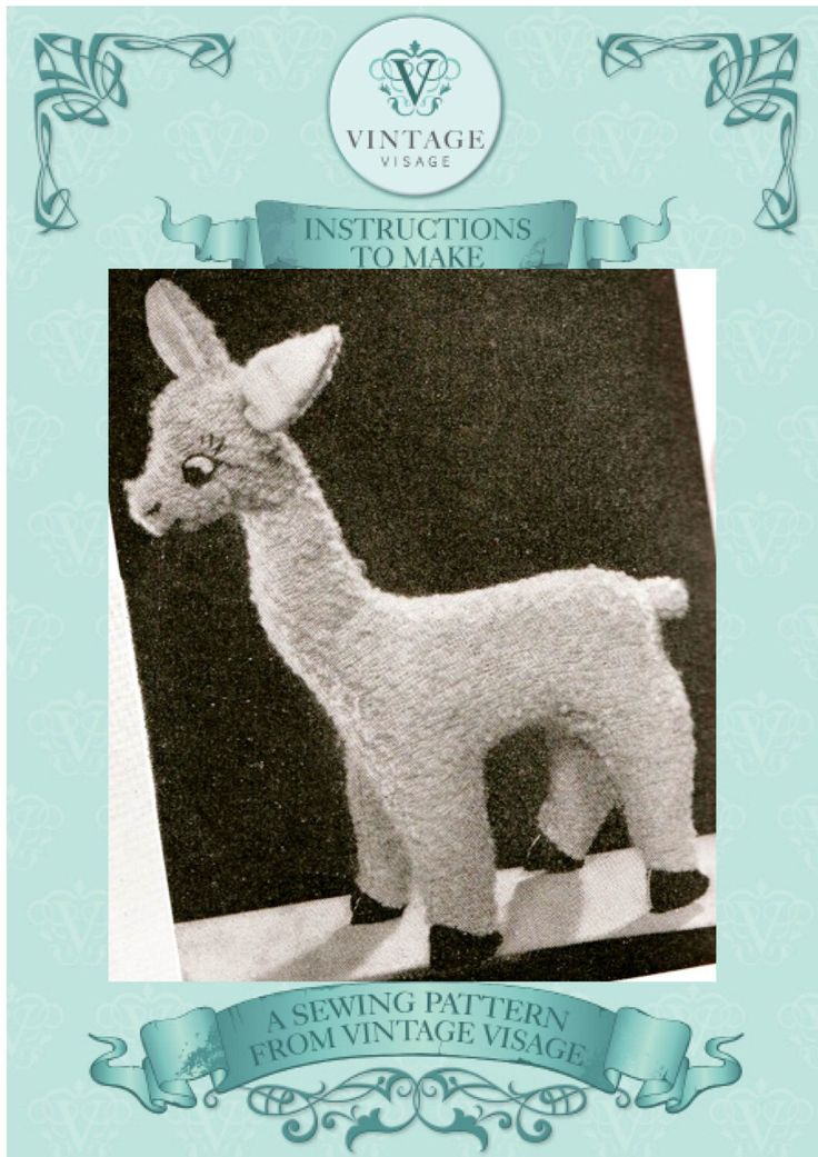 Paper pieces-1940s 'rag bag' llama alpaca toy sewing pattern- full size paper pieces by VintageVisagebypost on Etsy https://www.etsy.com/listing/242030223/paper-pieces-1940s-rag-bag-llama-alpaca