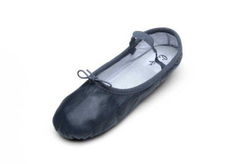 Linge Shoes Women's Navy Leather Ballet Shoe 9 M US -- Click on the image for additional details.