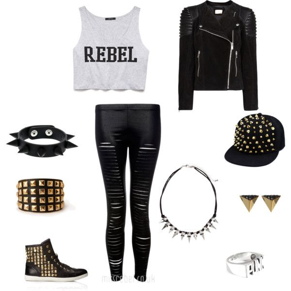 Punk rebel outfit. by doctorwho28929 on Polyvore featuring ...