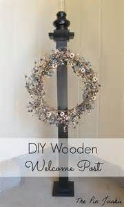 46 Best Wreath Stands Amp Welcome Posts Images On Pinterest