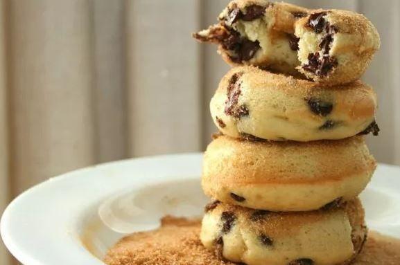 Chocolate Chip Doughnuts #GlutenFree