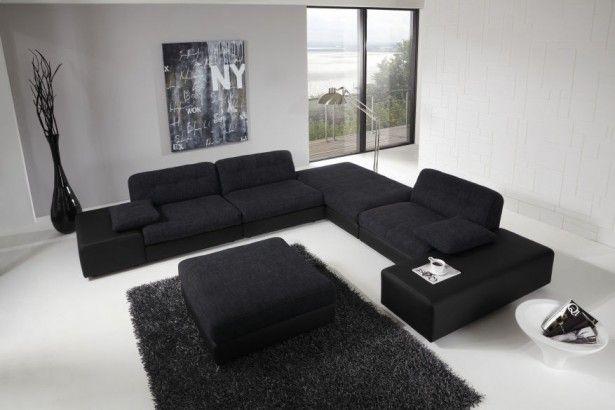 Black sofas to give elegance in your livingroom: Wonderful Modern Living Room Design  Black Sofas Black Coffee Table ~ hivenn.com Sofas Inspiration