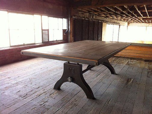 Vintage Industrial Hure Dining Table or Desk by VintageIndustrial