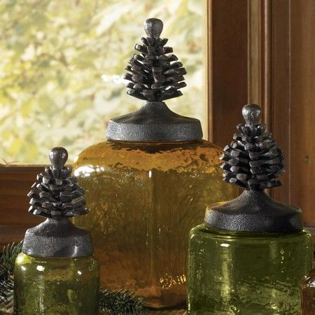 Lodge square glass jars are great for decorating or for practical use