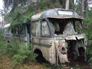abandoned coach.