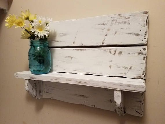 Rustic home decor Pallet shelf Bathroom Shelf kitchen
