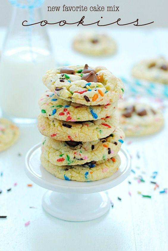 New Favorite Cake Mix Cookies | www.somethingswanky.com