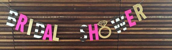 BRIDAL SHOWER banner. Kate spade Inspired by SEVENTHandJ on Etsy